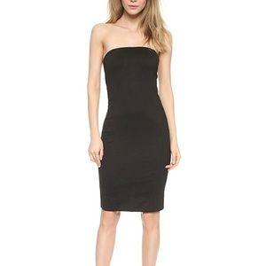 NWT Helmut Lang Strapless Black Jersey Dress